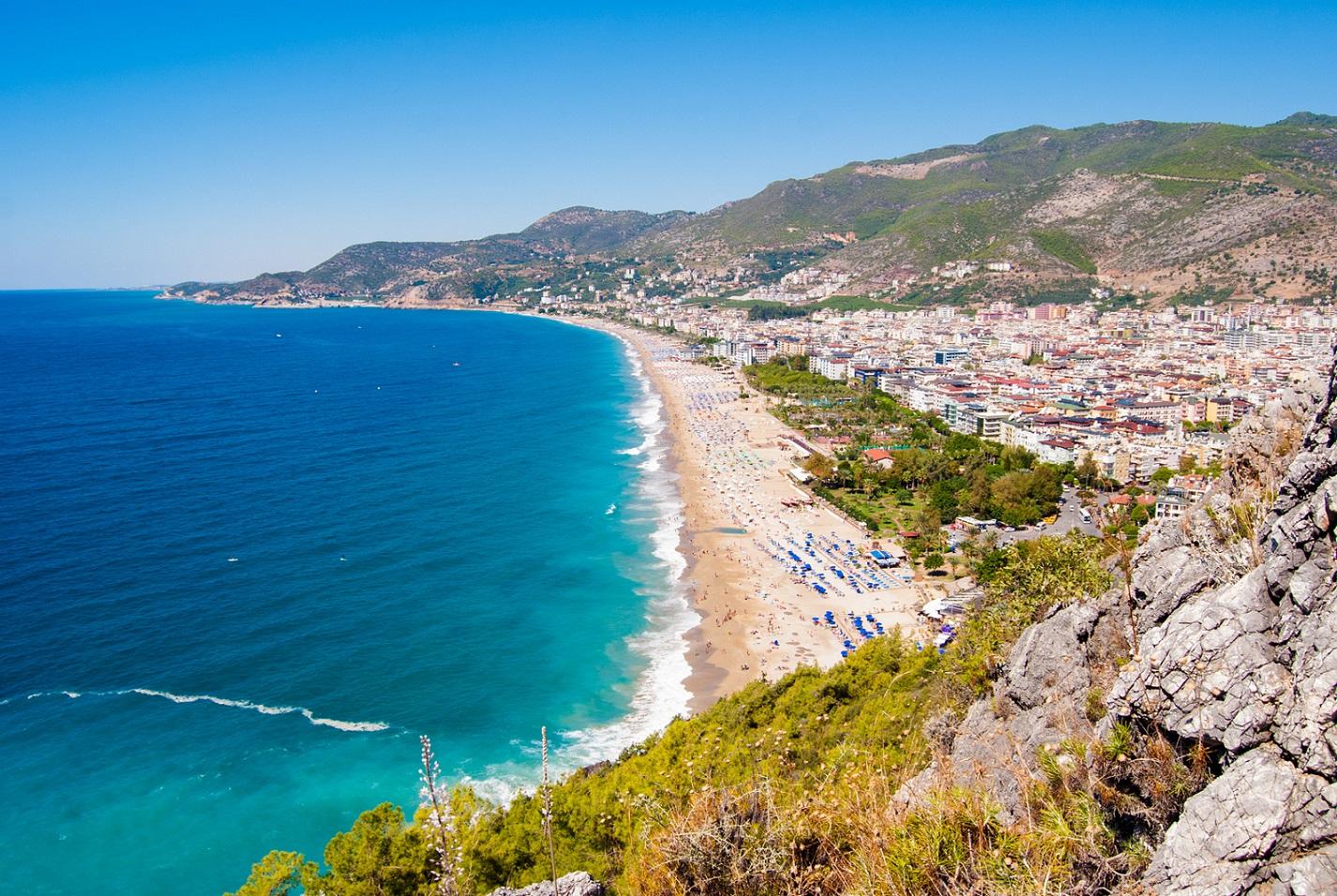 Kleopatřina pláž, Turecko